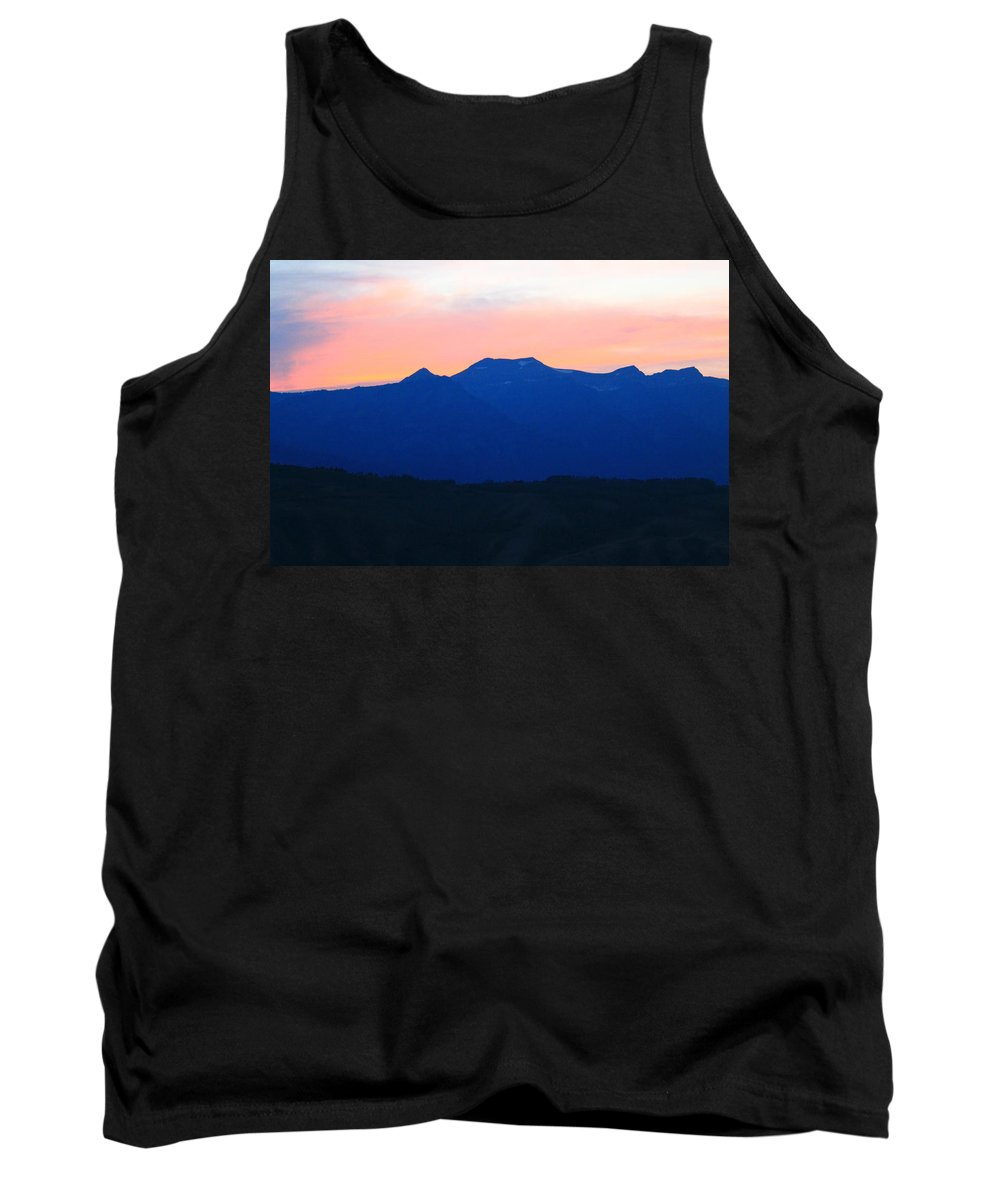 Sunset Tank Top featuring the photograph Good Night Grand Teton by Catie Canetti