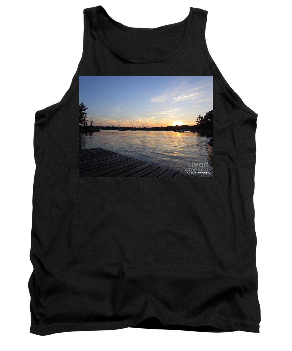 Sunset Tank Top featuring the photograph Goodnight Sun by Elizabeth Dow
