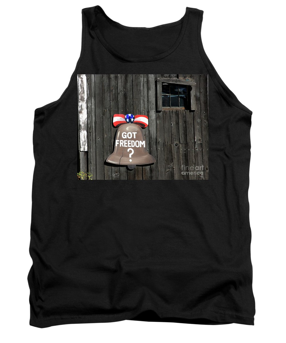 Small Town Tank Top featuring the photograph Got Freedom by Karol Livote