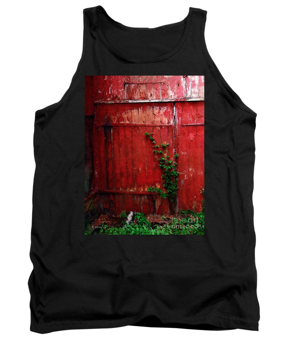 Barn Tank Top featuring the painting Graced With Green by RC DeWinter