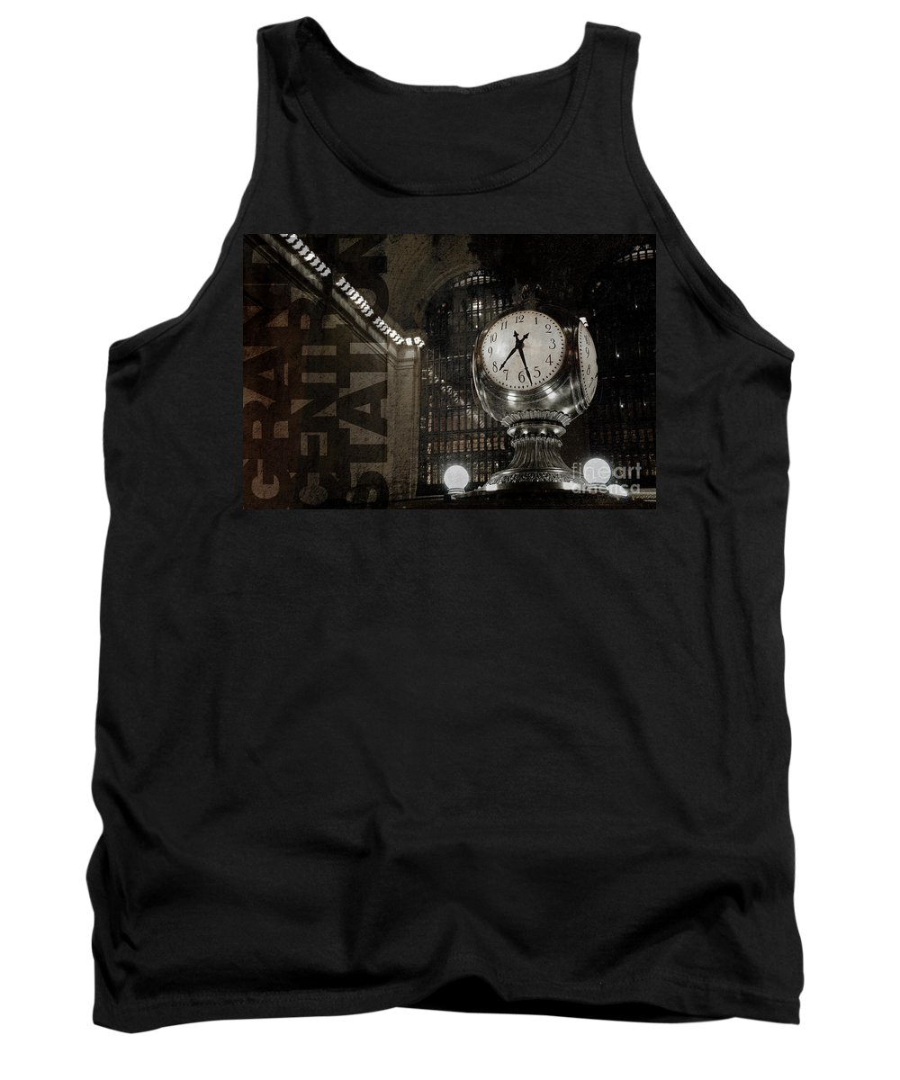 Grand Central Station Tank Top featuring the photograph Grand Central Station New York City by Art Whitton