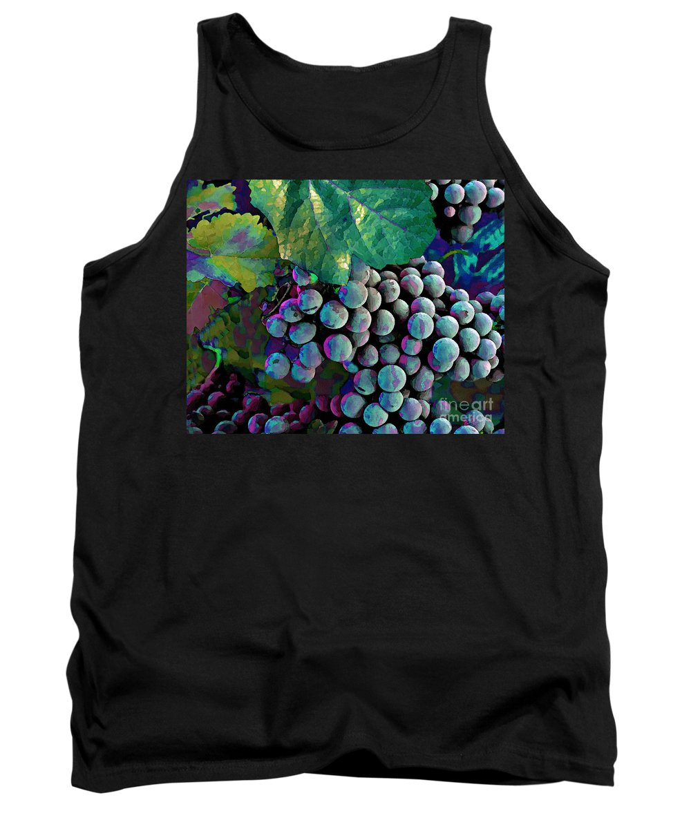 Grape Tank Top featuring the painting Grapes Painterly by Peter Piatt