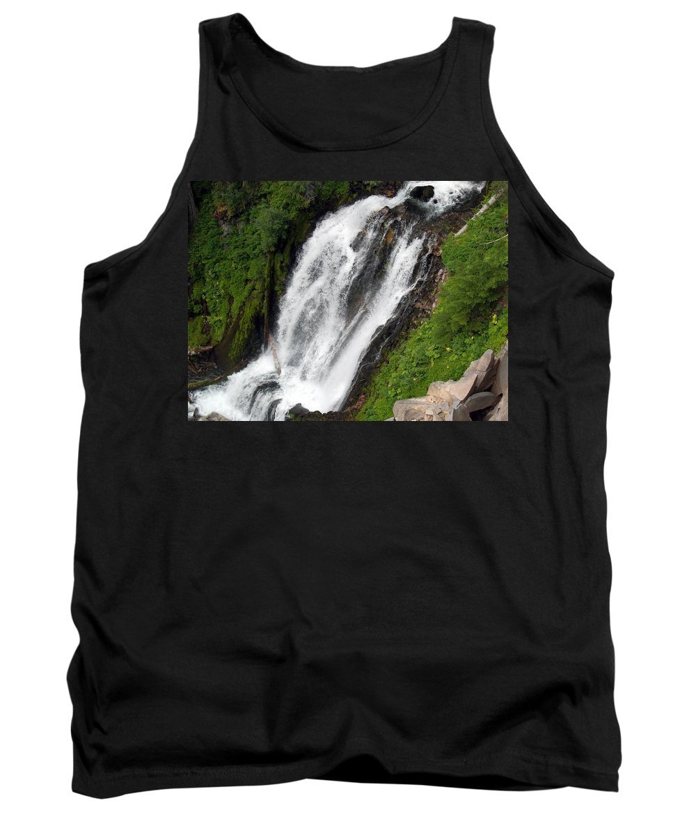 Water Tank Top featuring the photograph Great Angle Of Red Blanket Falls by Teri Schuster