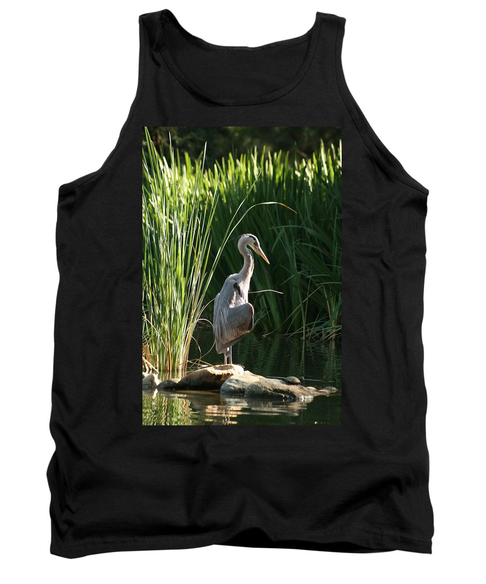 Great Blue Heron Tank Top featuring the photograph Great Blue Heron by Ellen Henneke