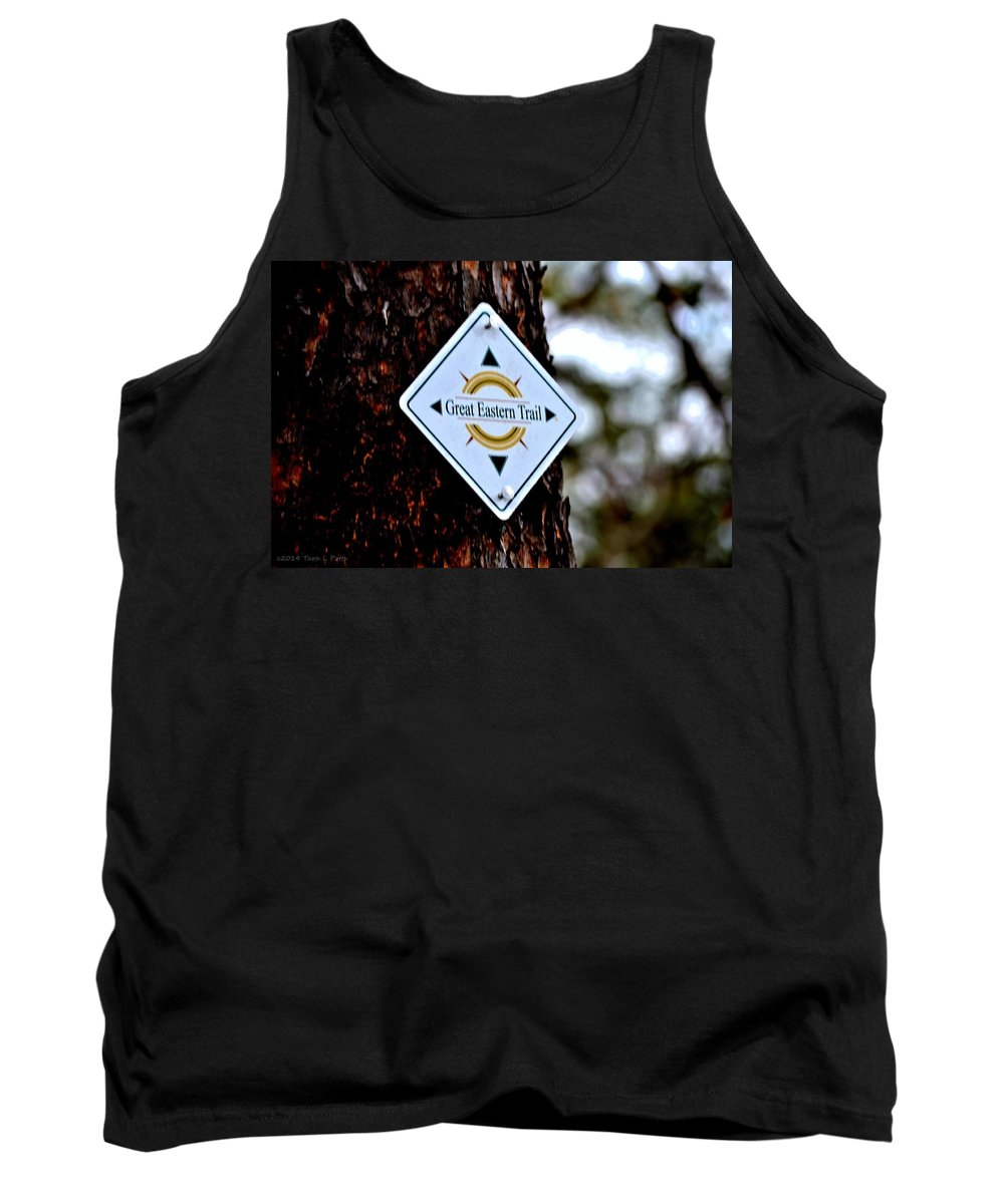 Great Eastern Trail Tank Top featuring the photograph Great Eastern Trail Marker by Tara Potts