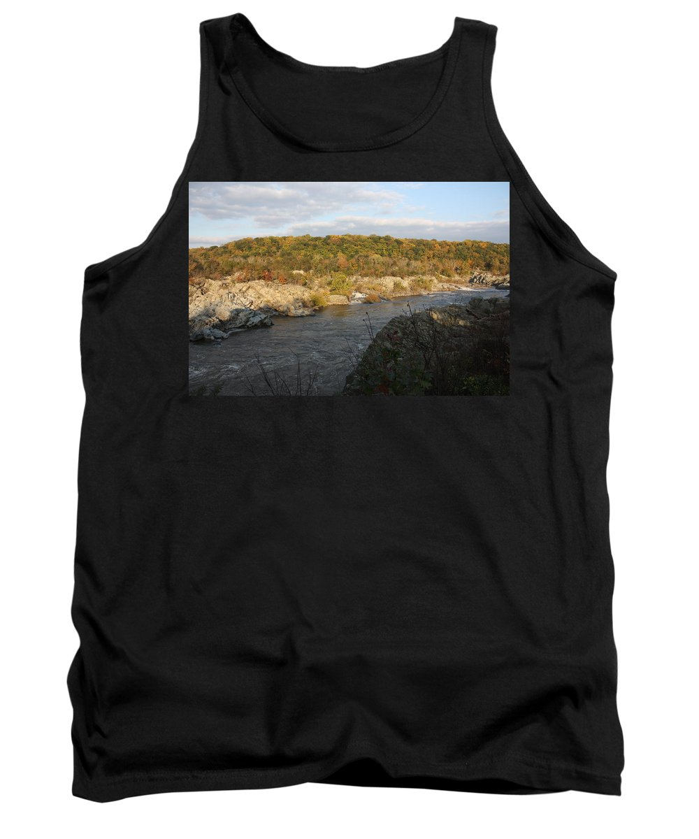 Great Falls Tank Top featuring the photograph Great Falls Down River Fall by Jason Huffman
