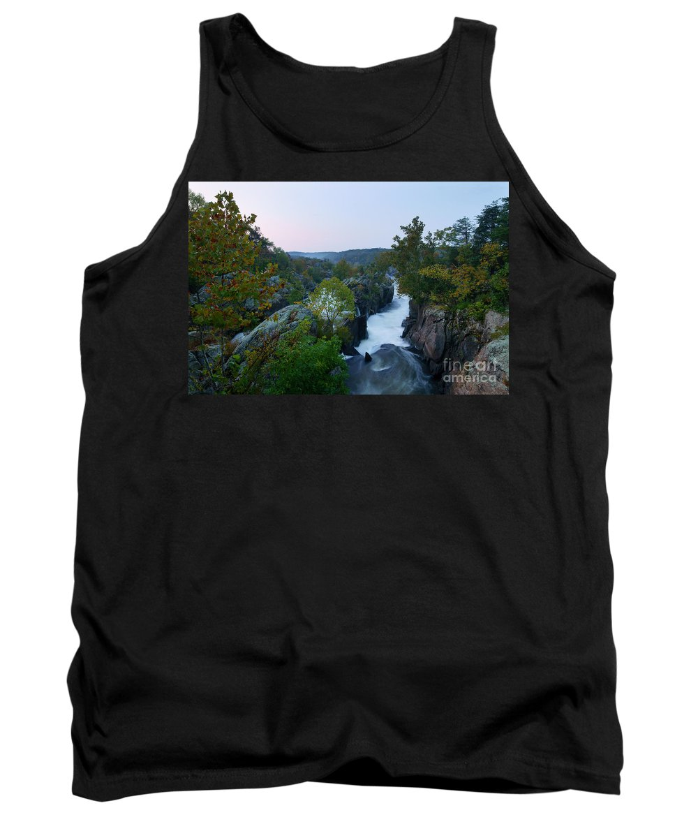 Great Falls Tank Top featuring the photograph Great Falls Md Hdr 2 by Benjamin Reed