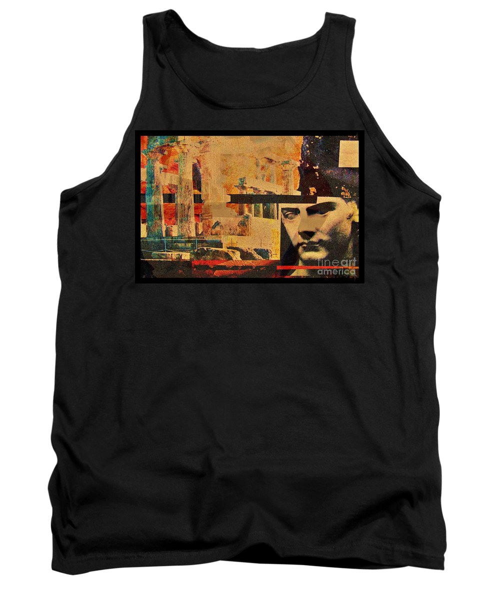 Fractal Art Tank Top featuring the digital art Greek Ruins by Elizabeth McTaggart