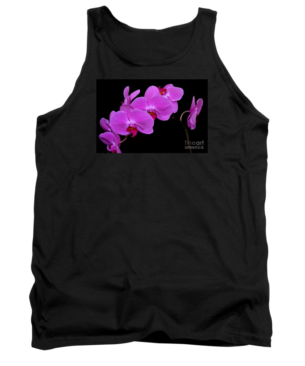 Orchid Tank Top featuring the photograph Green Field Sweetheart Orchid No 2 by Mary Deal