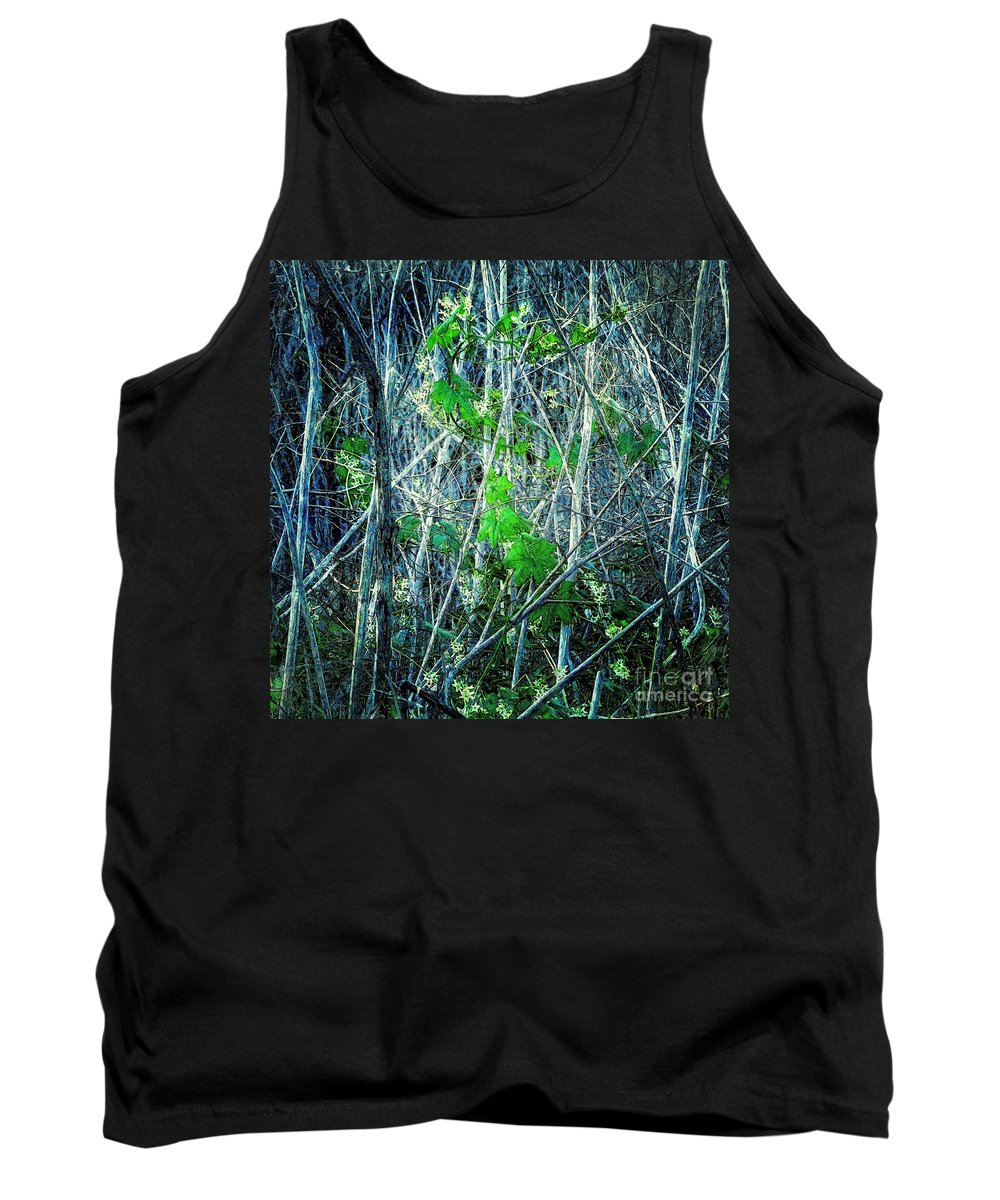 Nature Tank Top featuring the photograph Green In Winter by Davy Cheng