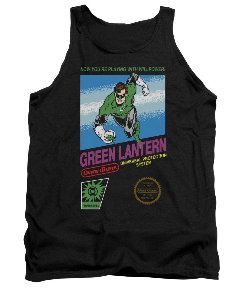 Green Lantern Tank Top featuring the digital art Green Lantern - Box Art by Brand A