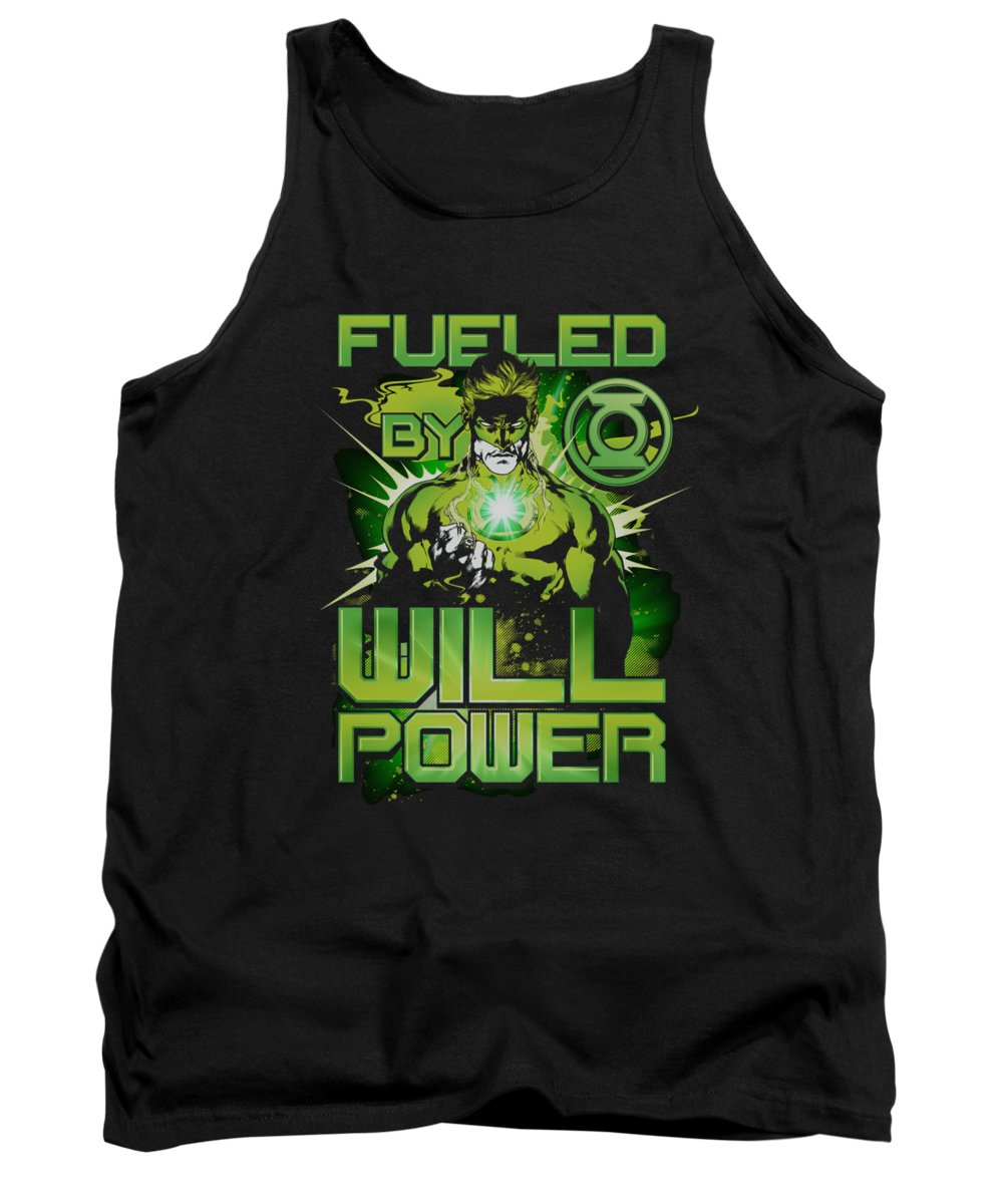 Green Lantern Tank Top featuring the digital art Green Lantern - Fueled by Brand A