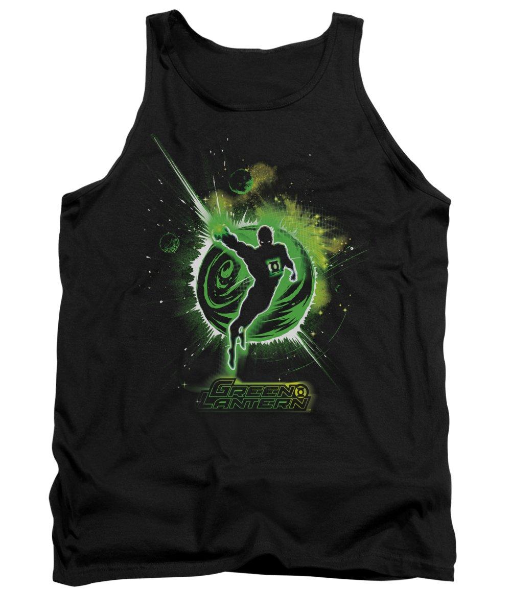 Green Lantern Tank Top featuring the digital art Green Lantern - Shadow Lantern by Brand A
