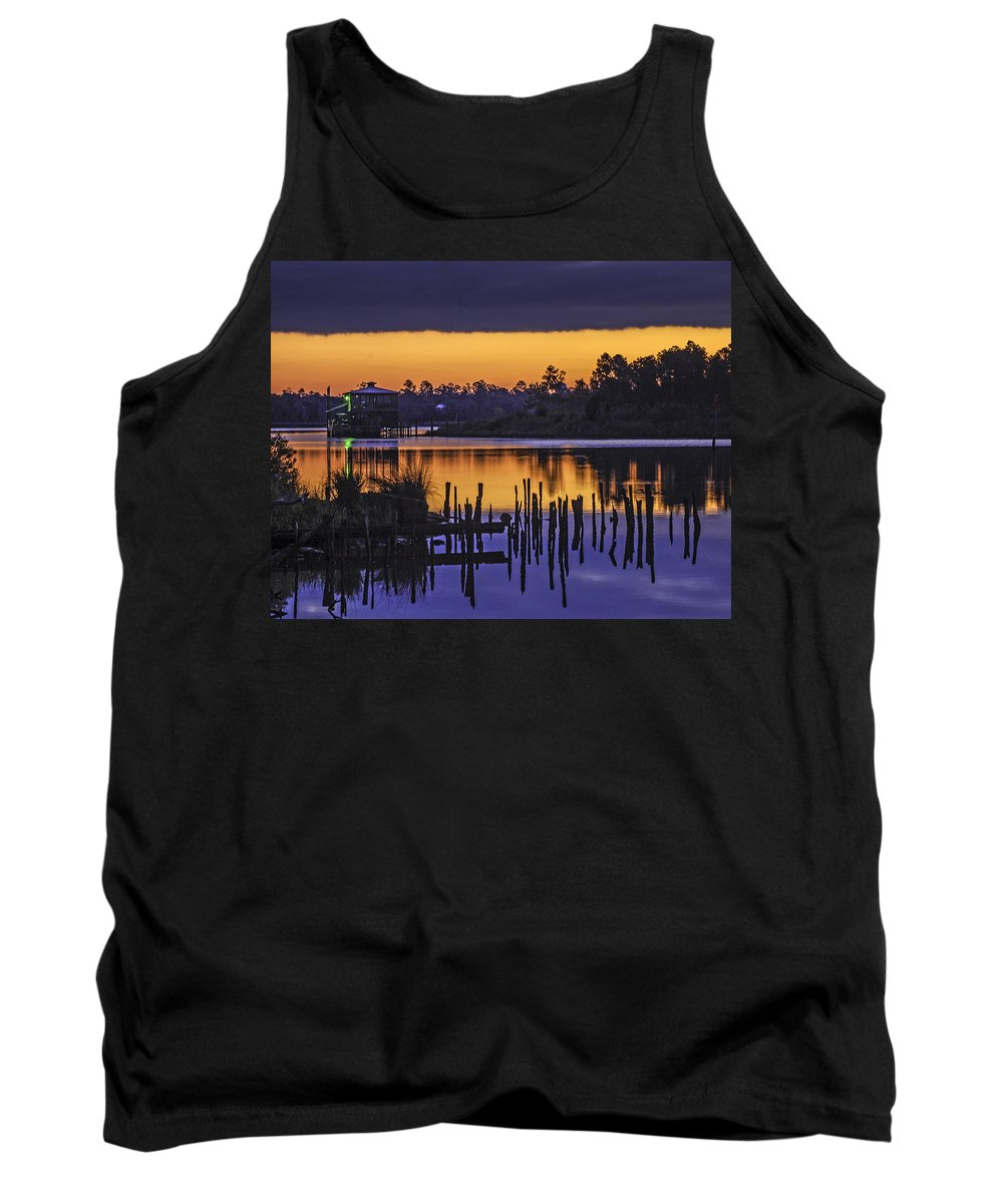 Palm Tank Top featuring the digital art Green Light by Michael Thomas