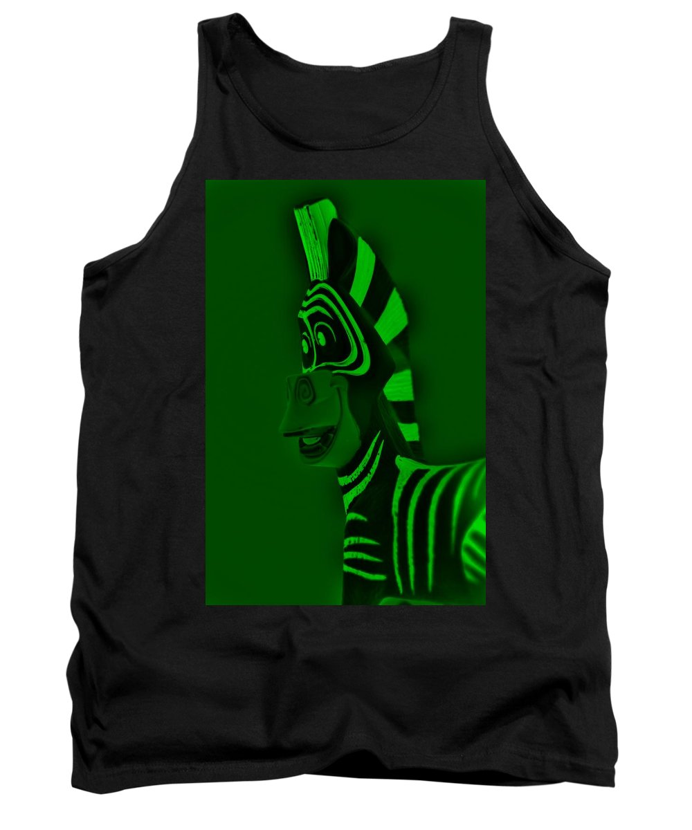 Zebra Tank Top featuring the photograph Green Zebra by Rob Hans