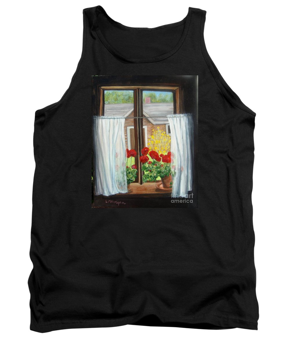 Windows Tank Top featuring the painting Greet The Day by Laurie Morgan