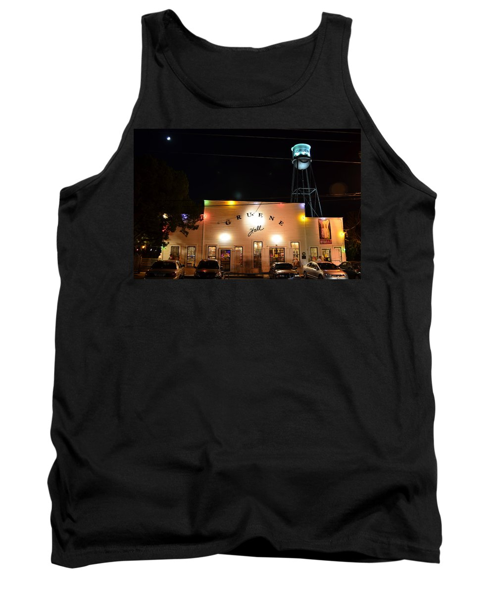 Timed Exposure Tank Top featuring the photograph Gruene Hall by David Morefield