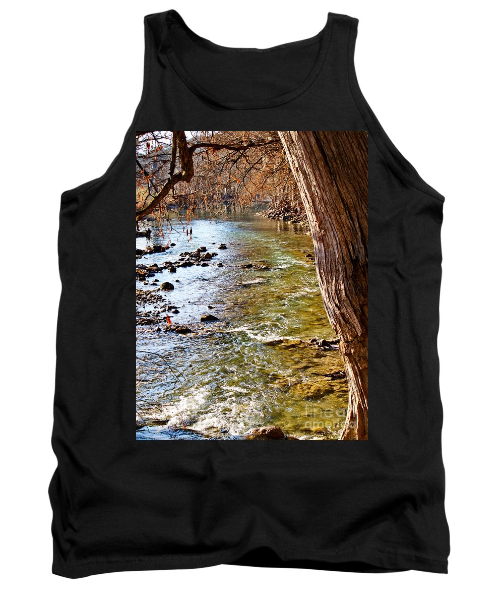 Guadalupe River Tank Top featuring the photograph Guadalupe River View by Gary Richards