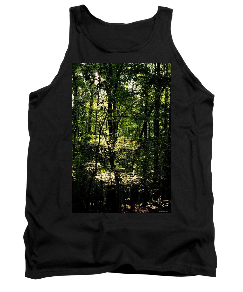 Guardians Of The Forest Tank Top featuring the photograph Guardians Of The Forest by Maria Urso