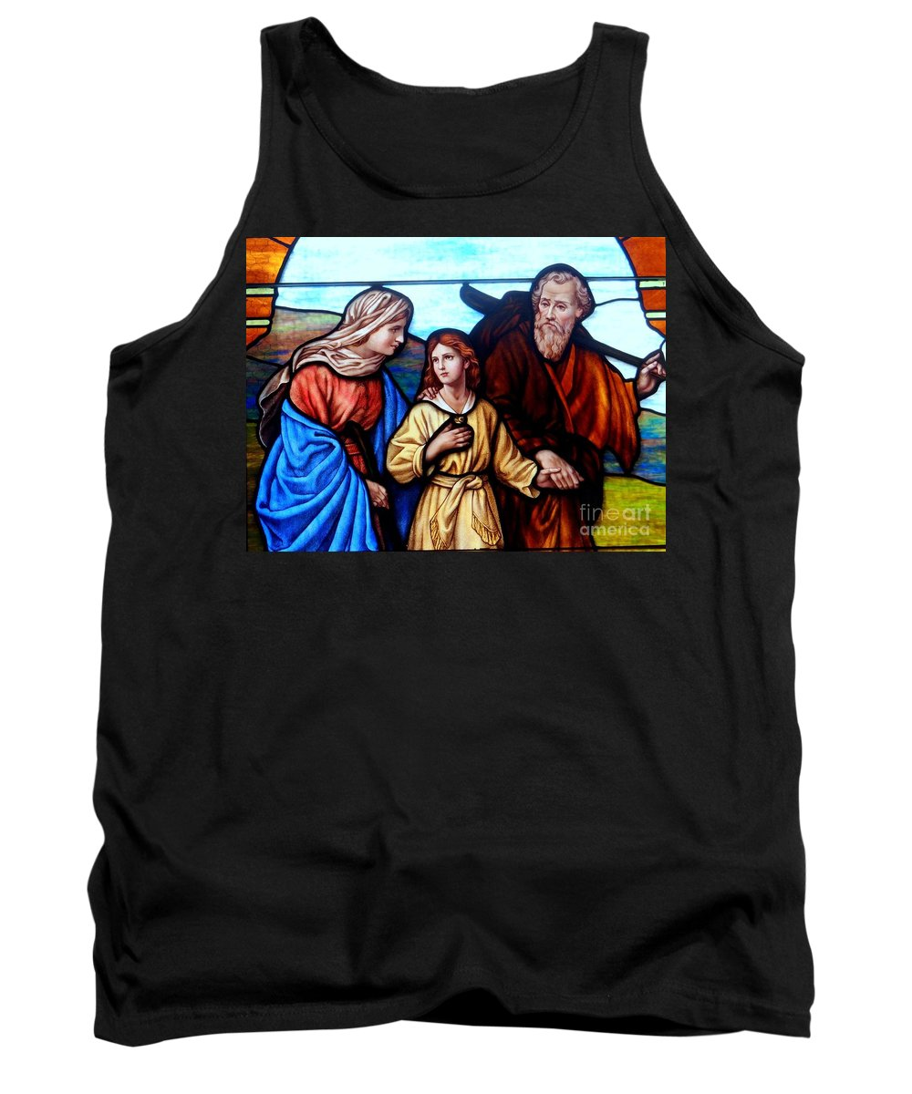 Stained Glass Tank Top featuring the photograph Guidance by Ed Weidman
