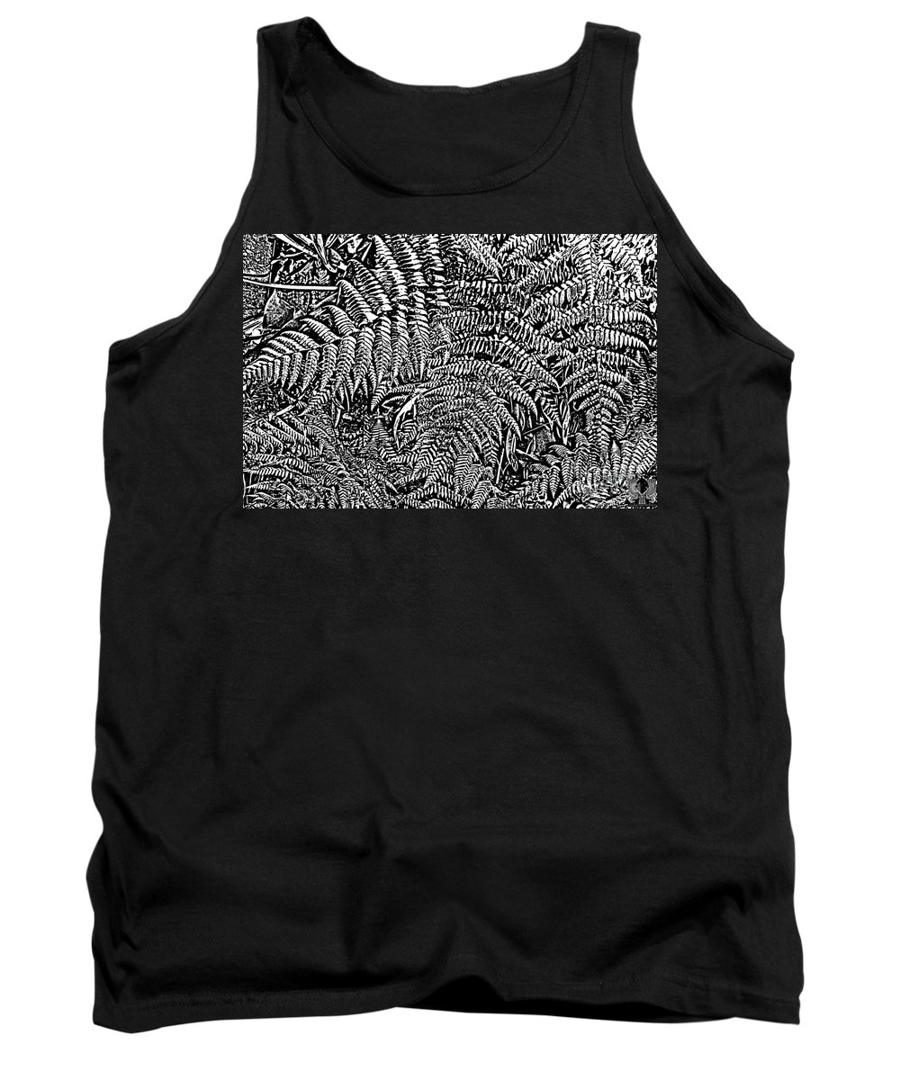 Fern Tank Top featuring the photograph H Ferns Cont Z by Dale Crum