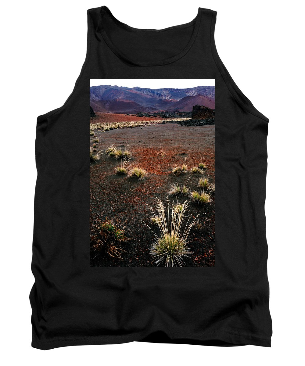 Maui Tank Top featuring the photograph Haleakala - Red And Black by Nature Photographer