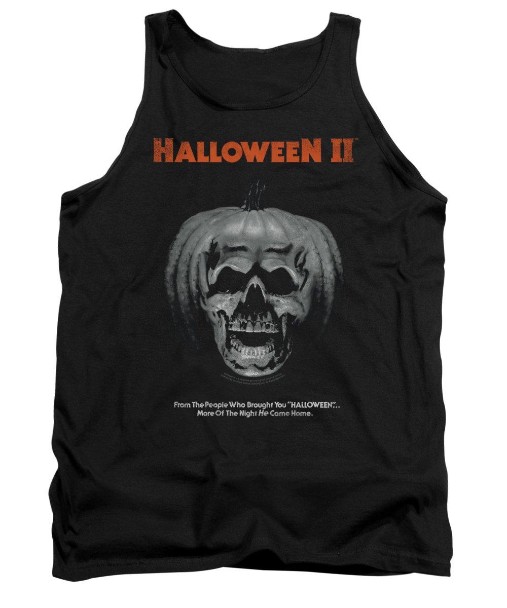 Halloween 2 Tank Top featuring the digital art Halloween II - Pumpkin Poster by Brand A