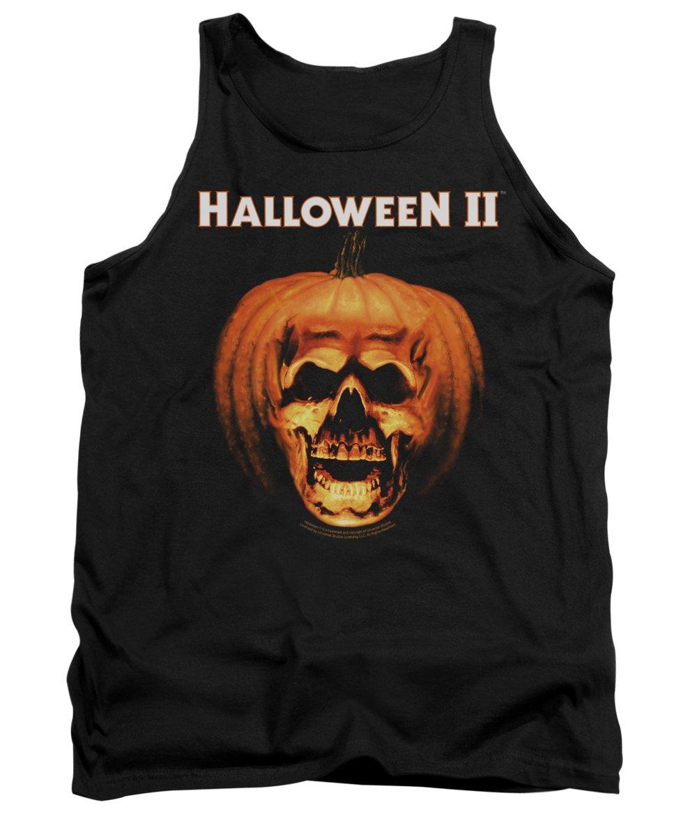 Halloween 2 Tank Top featuring the digital art Halloween II - Pumpkin Shell by Brand A