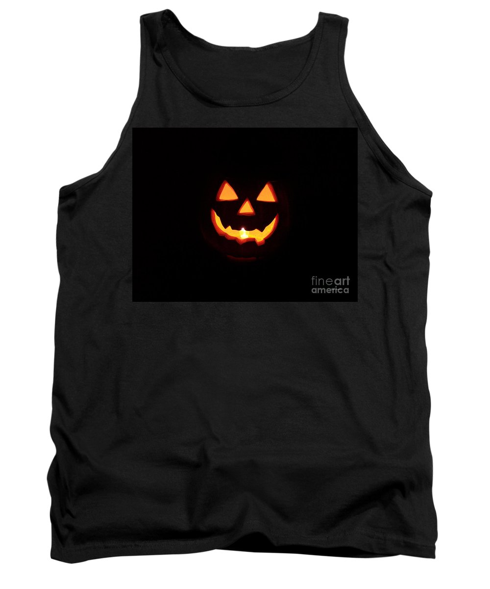 Pumpkin Tank Top featuring the photograph Halloween Pumpkin by Thomas Woolworth