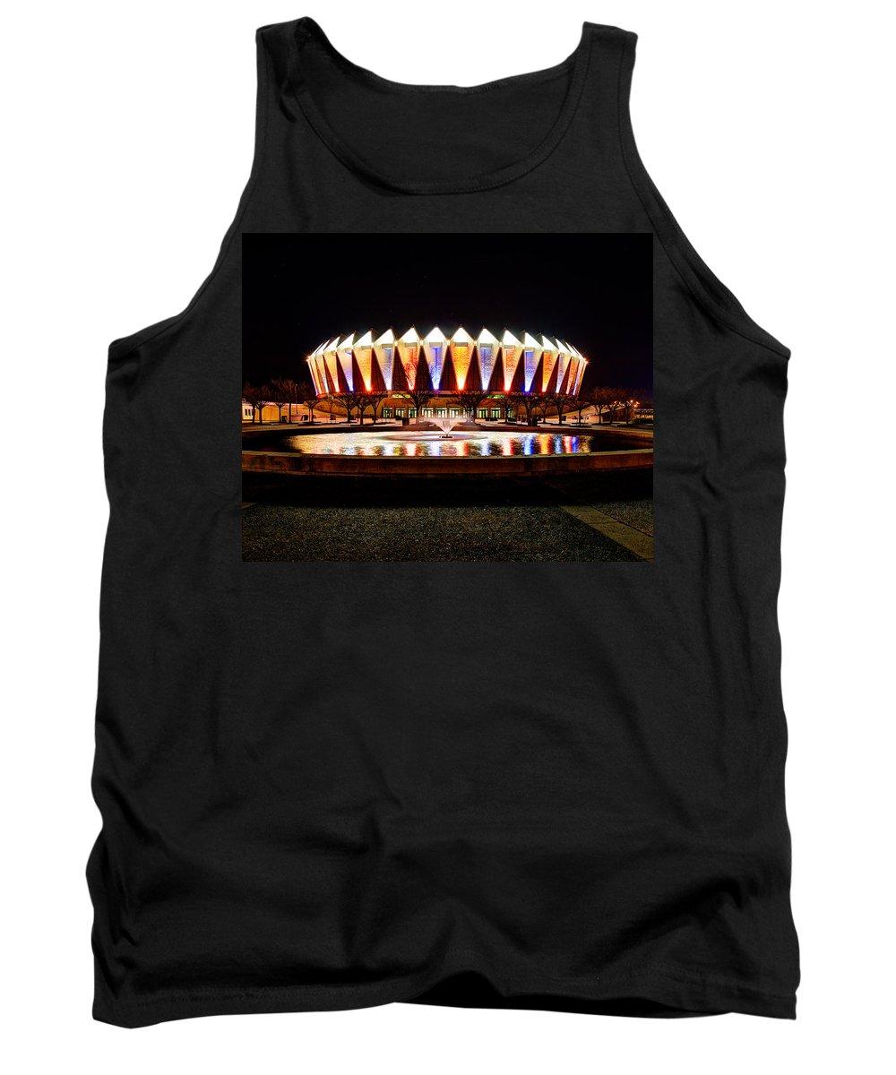 Hampton Coliseum Tank Top featuring the photograph Hampton Coliseum Christmas by Greg Hager