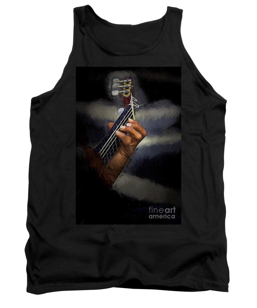 Spanish Guitar Tank Top featuring the photograph Hand Of A Spanish Guitarist by Sheila Smart Fine Art Photography
