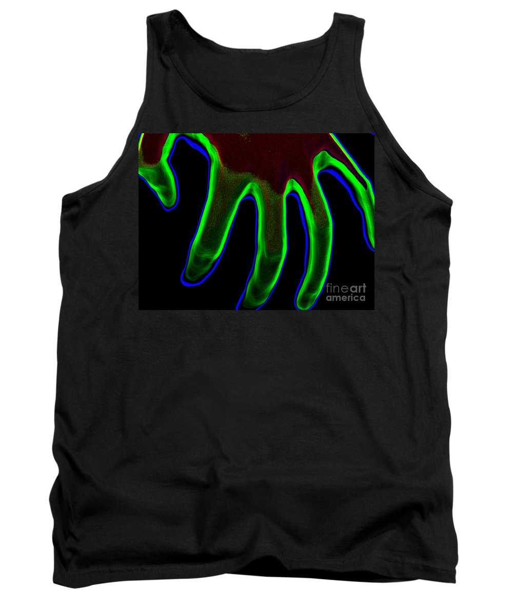 Abstract Tank Top featuring the photograph Hand by Tera Michaels