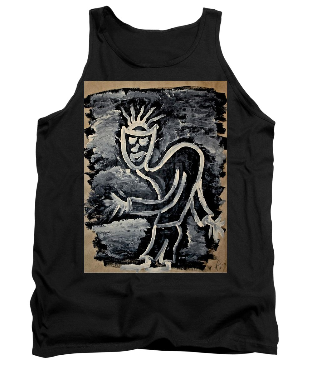 Spirits Tank Top featuring the painting Happy Walk by Mario MJ Perron