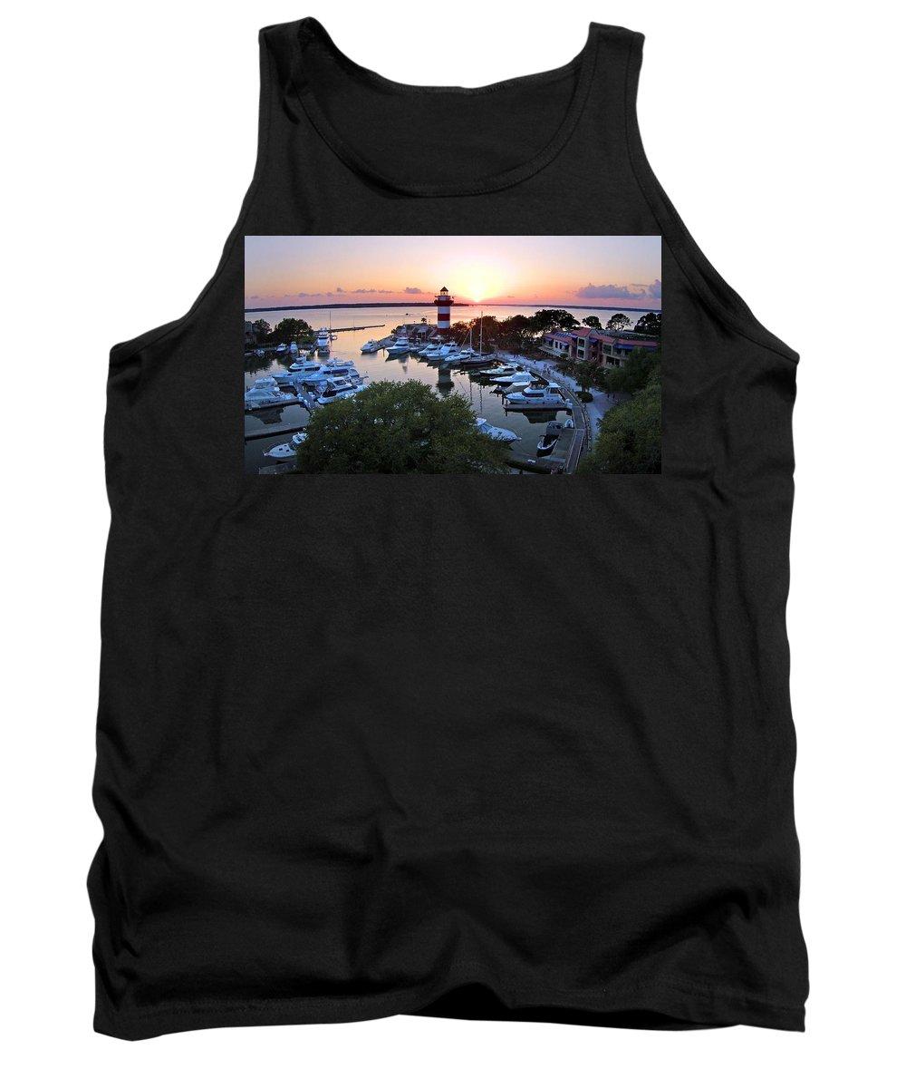 Hilton Head Tank Top featuring the photograph Harbor Town 4 In Hilton Head by Duane McCullough