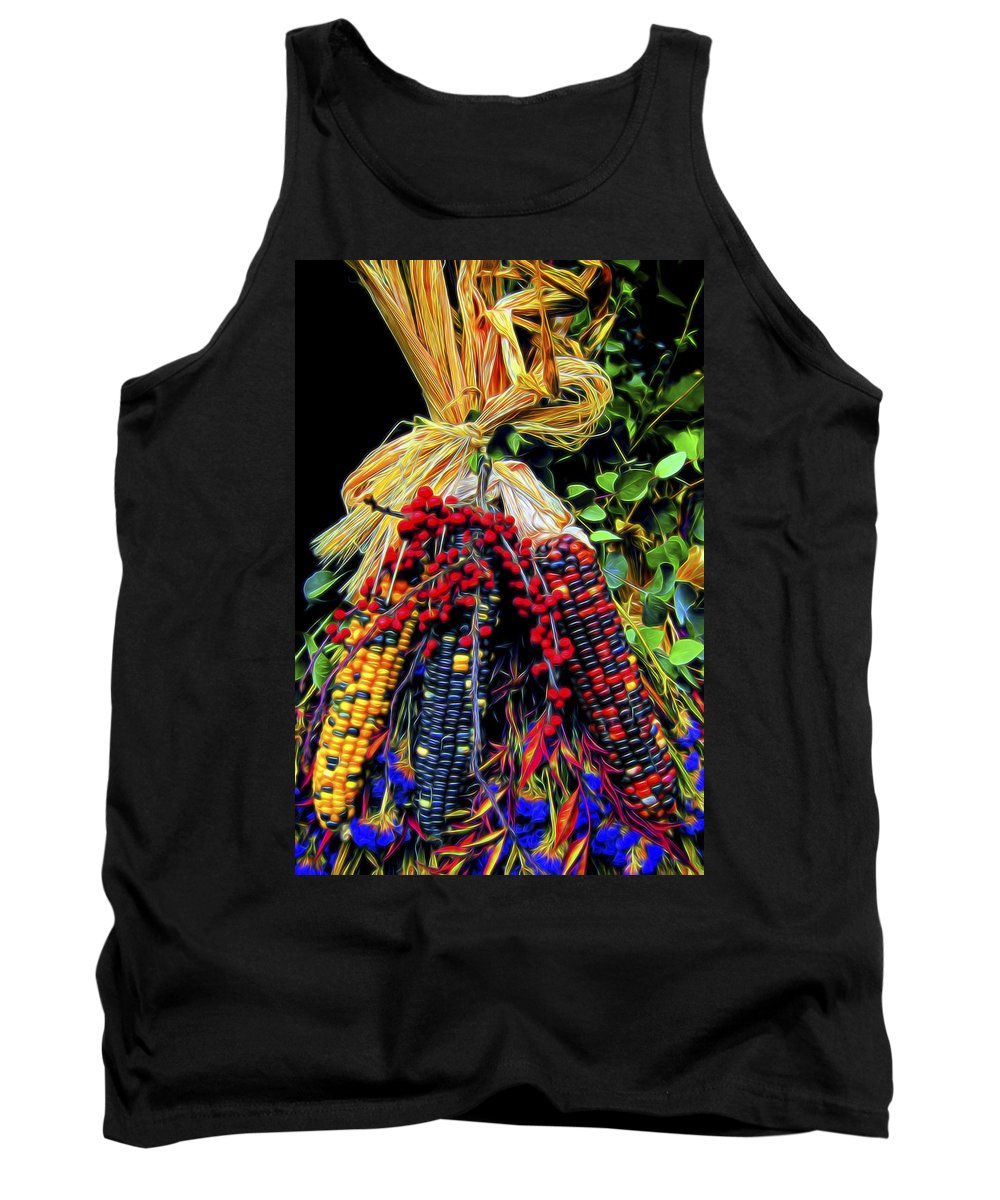 Tradition Tank Top featuring the digital art Harvest Time by William Horden