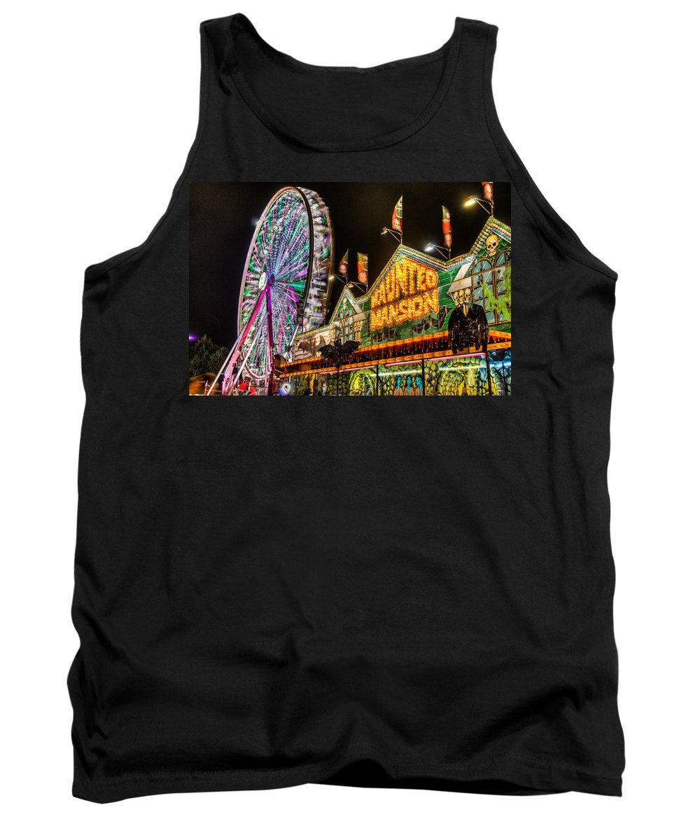 Fair Tank Top featuring the photograph Haunted Mansion by Randy Walton