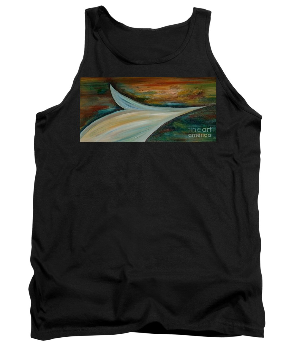 Abstract Tank Top featuring the painting Heaven by Silvana Abel