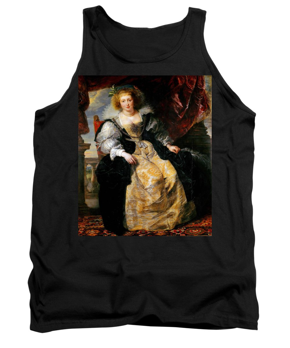 Peter Paul Rubens Tank Top featuring the painting Helena Fourment by Peter Paul Rubens