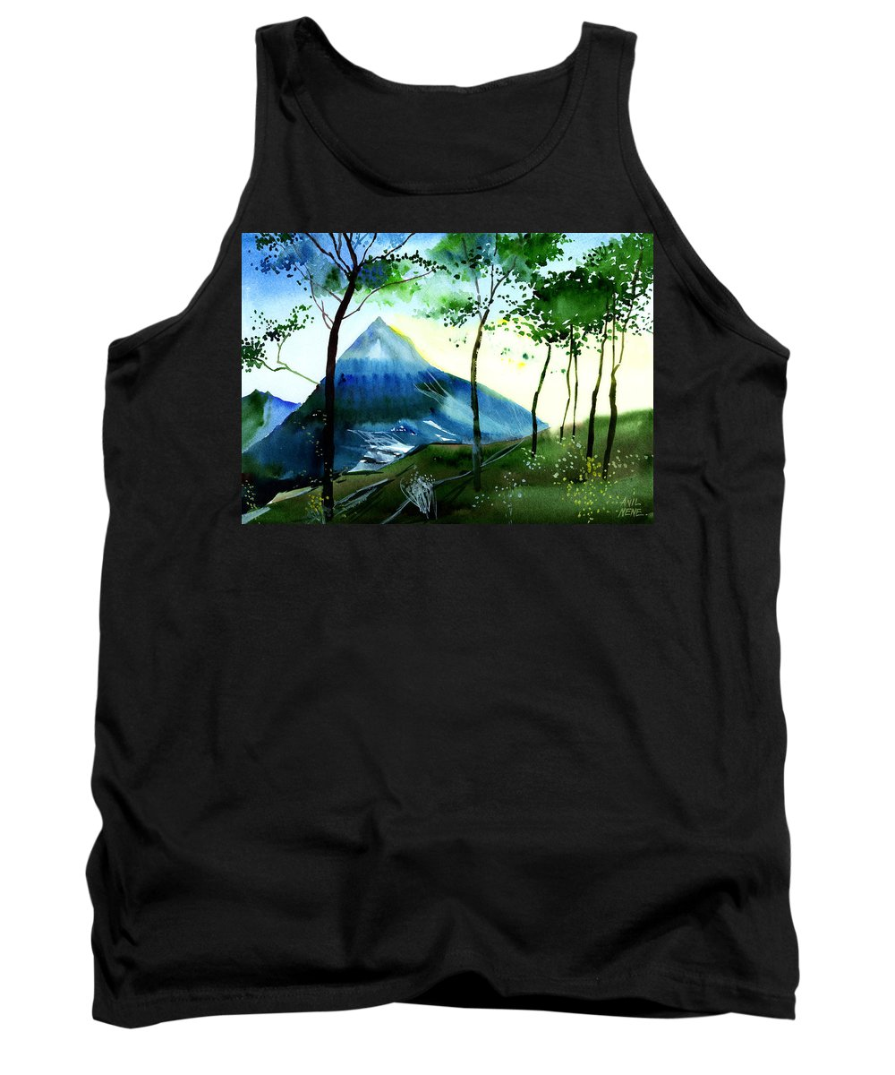 Nature Tank Top featuring the painting Hello by Anil Nene