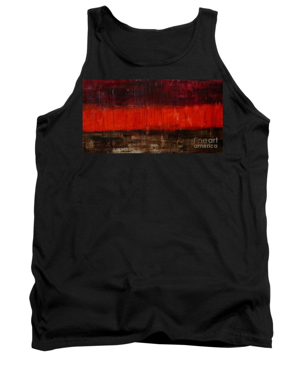 Abstract Tank Top featuring the painting High Energy by Silvana Abel