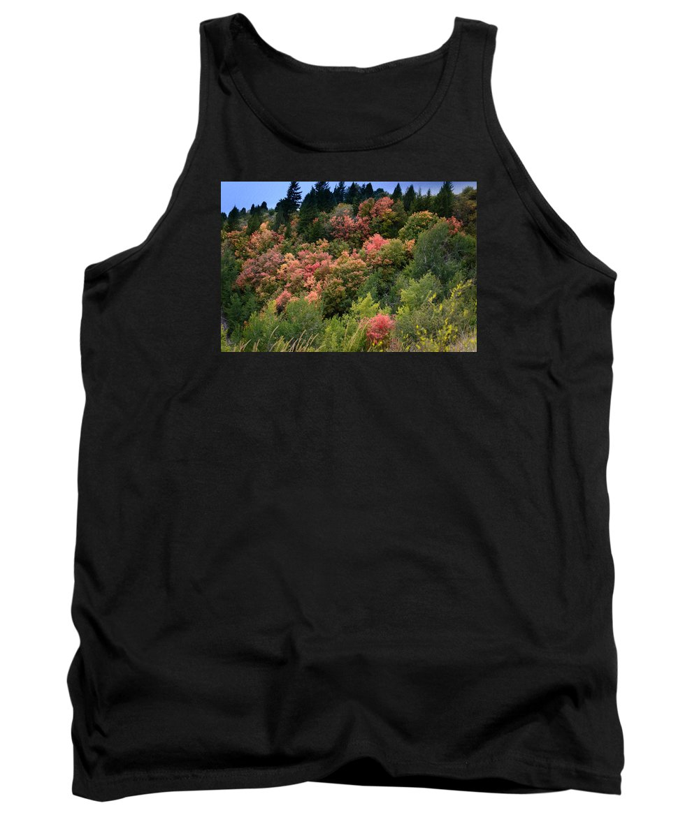 Landscape Tank Top featuring the photograph Hill Side Colors by Colleen McIntier