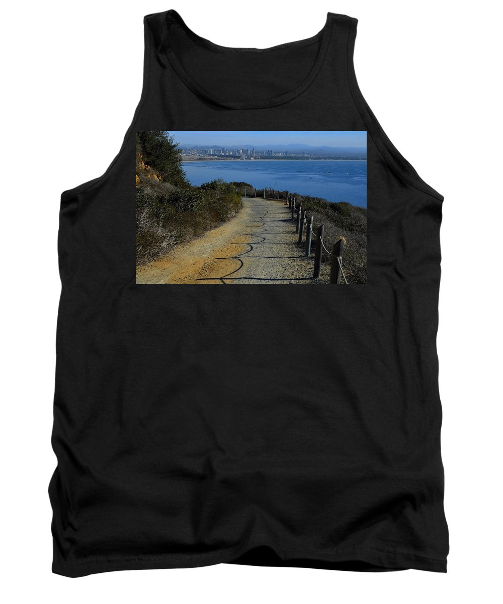 Hillside Trail Tank Top featuring the photograph Hillside Trail by See My Photos