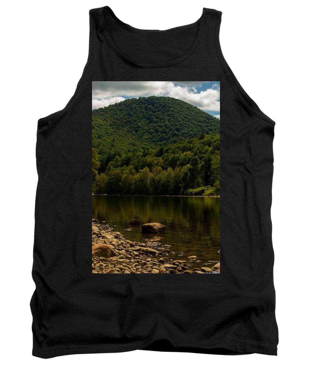 Green Tank Top featuring the photograph Hilltop In The Berkshires by Kathleen Odenthal
