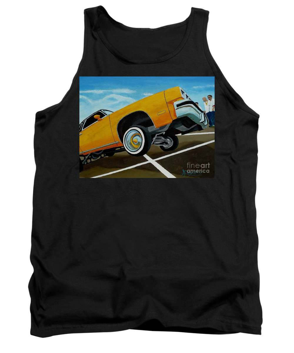 Chevy Tank Top featuring the painting Hip Hoppin Chevy by Anthony Dunphy