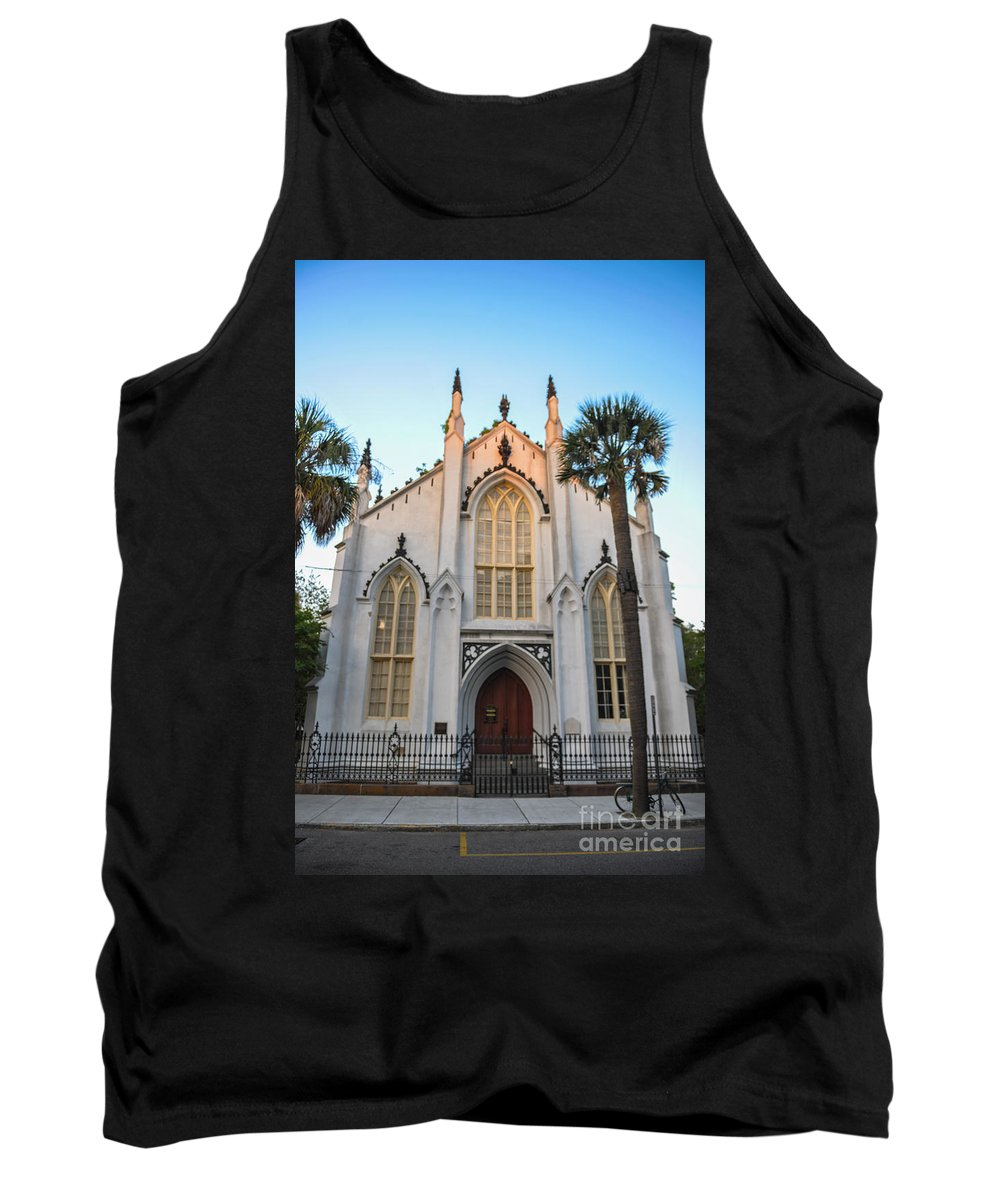 French Huguenot Tank Top featuring the photograph Historic Downtown Church by Dale Powell