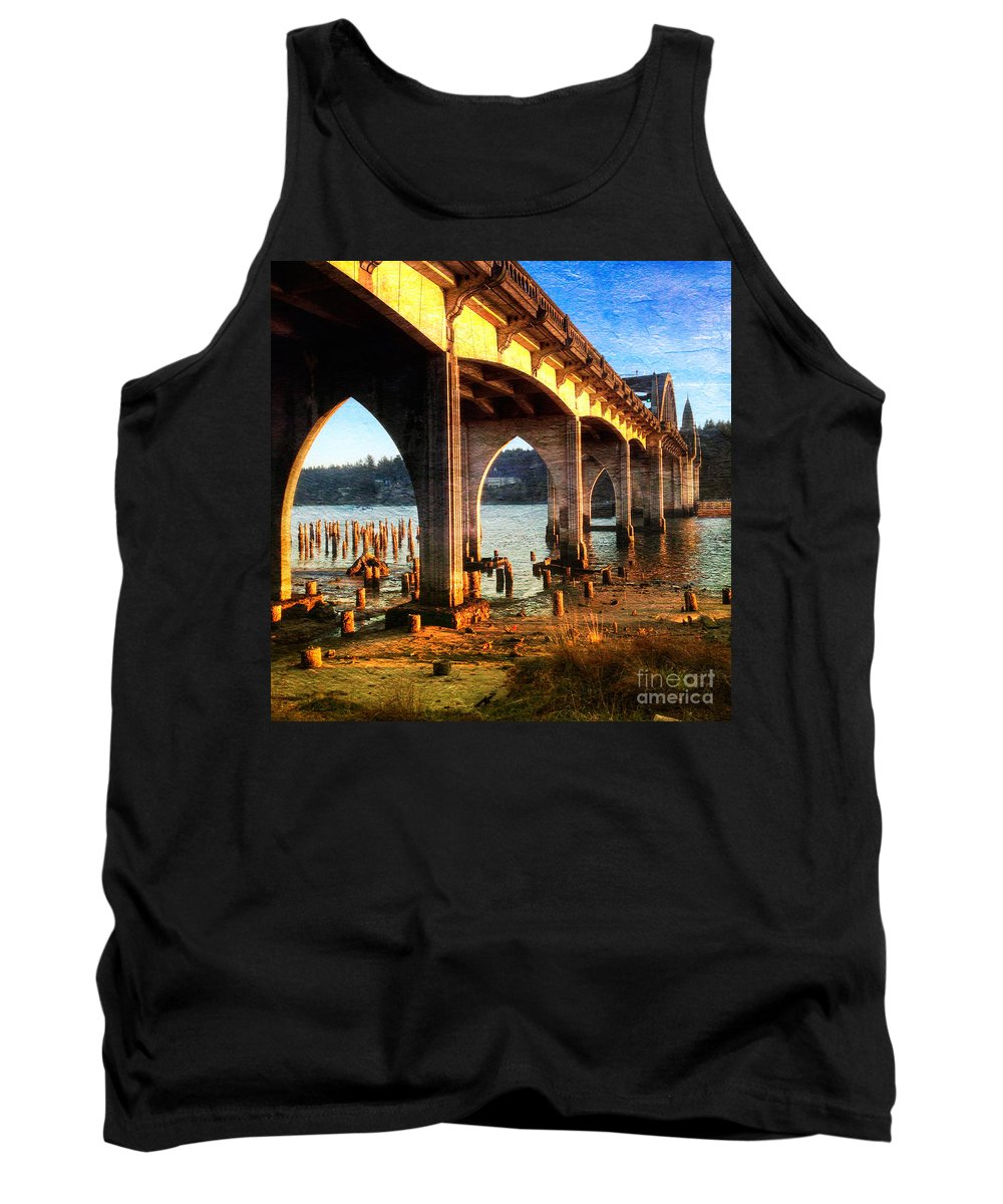Siuslaw Tank Top featuring the photograph Historic Siuslaw River Bridge by Charlene Mitchell