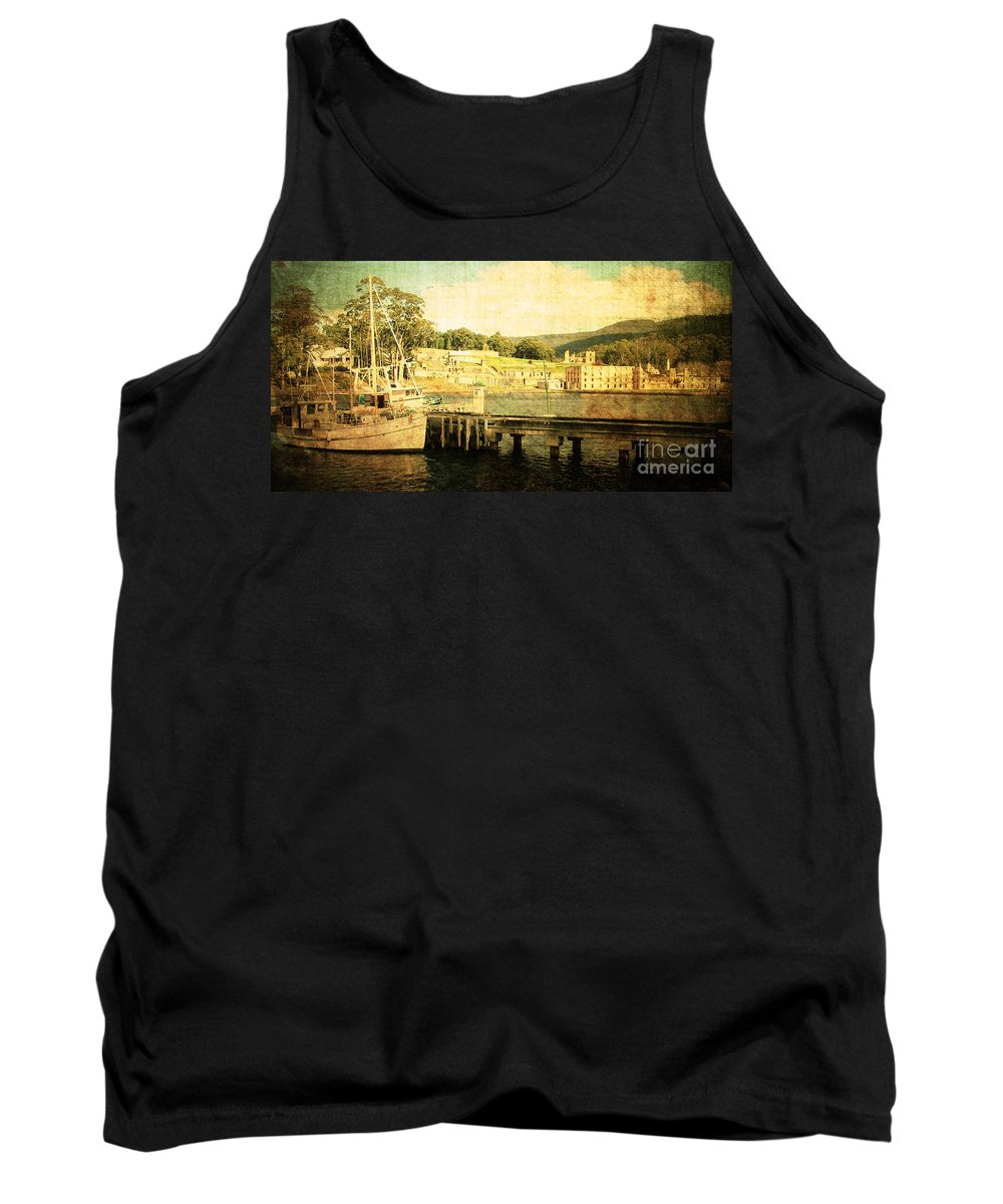 Vintage Tank Top featuring the photograph Historical Waters by Phill Petrovic