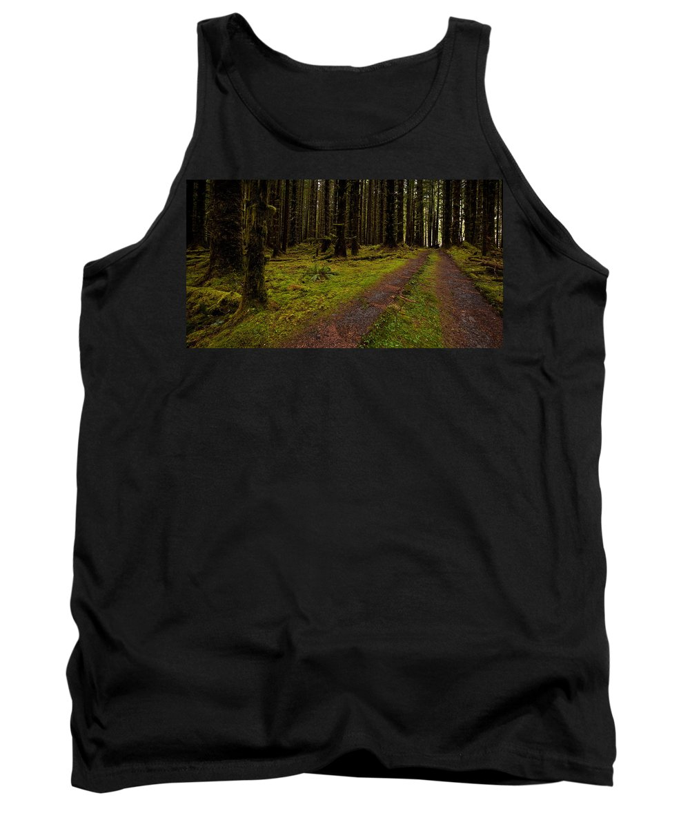 Hoh Rainforest Tank Top featuring the photograph Hoh Rainforest Road by Mike Reid