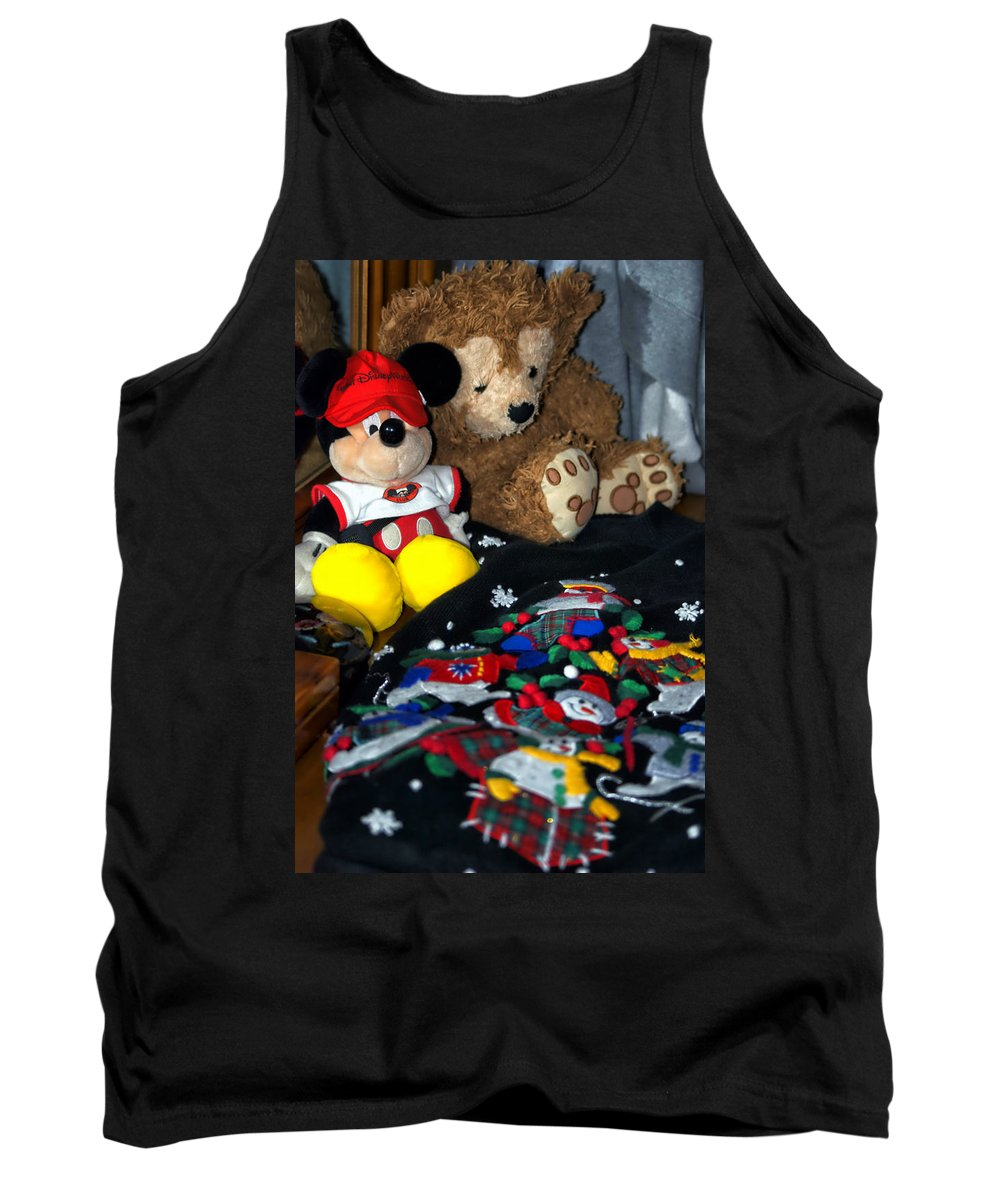 Fantasy Tank Top featuring the photograph Holiday Bear by Thomas Woolworth