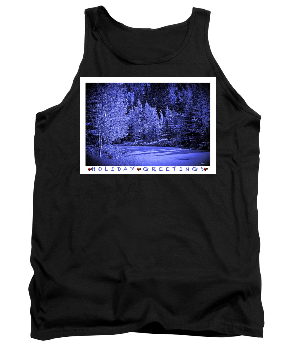 Holiday Tank Top featuring the photograph Holiday Greetings - Vail - Colorado by Madeline Ellis